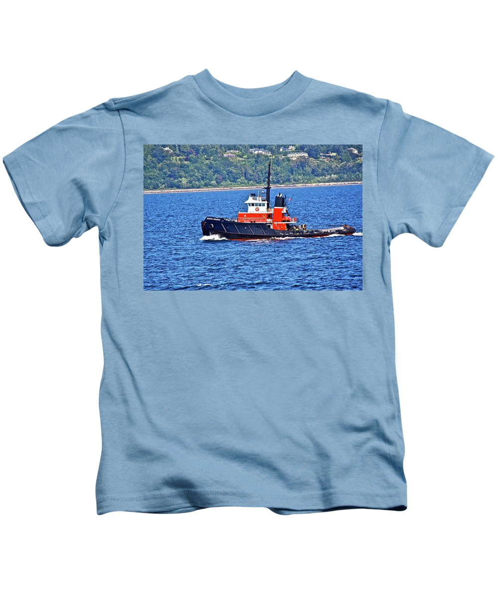 Boat Kids T-Shirt featuring the photograph Small But Strong by Diana Hatcher