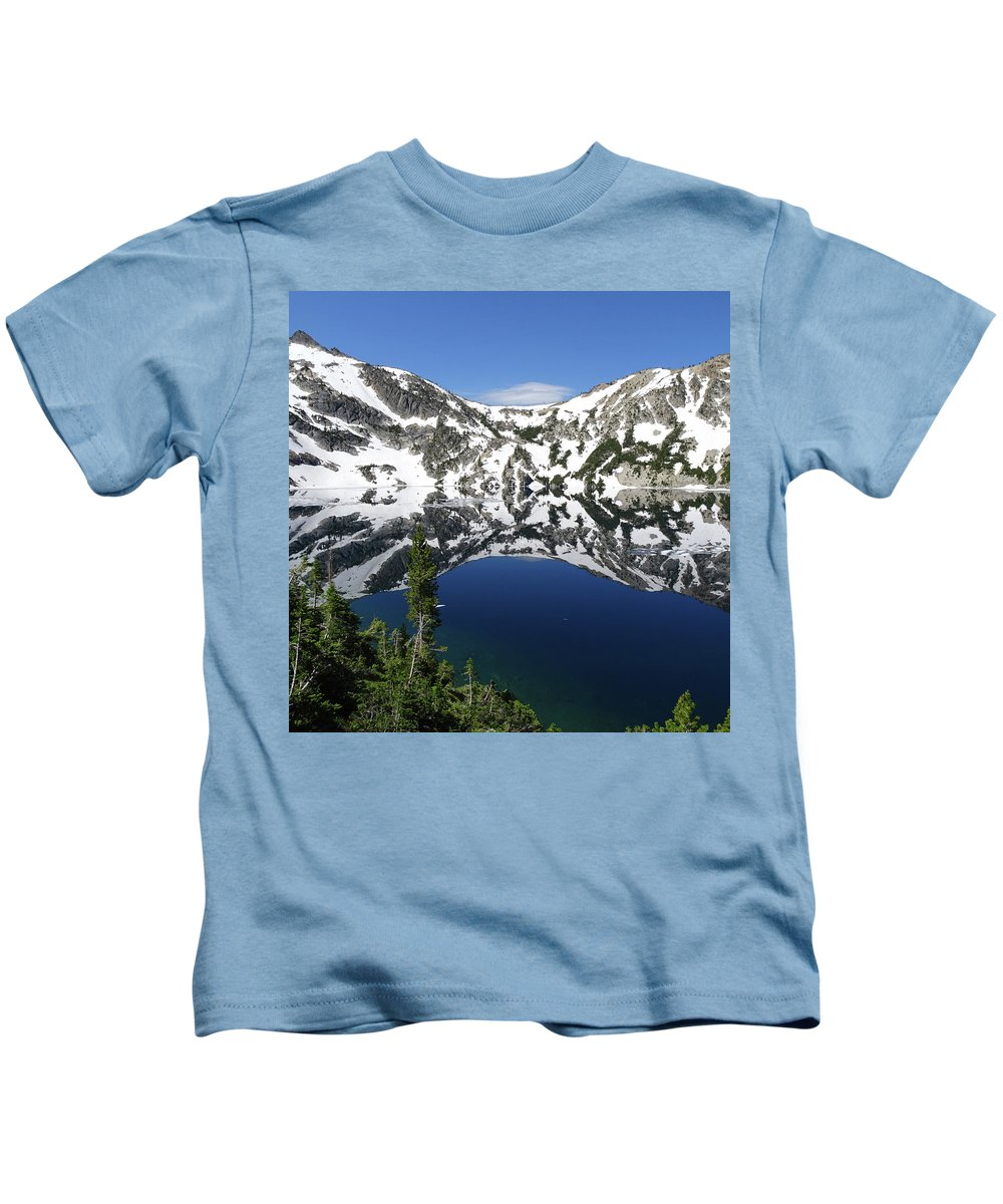 Idaho Kids T-Shirt featuring the photograph Smoother Than Glass by Dan Dixon