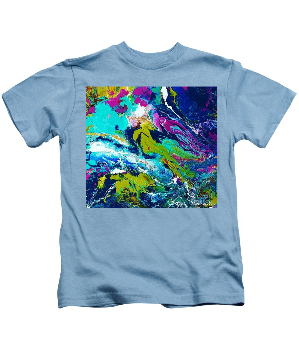 Kids T-Shirt featuring the mixed media Soul Searching by Rosemary Hadeed
