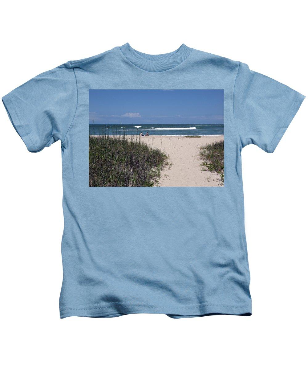 Florida Kids T-Shirt featuring the photograph South Beach by Allan Hughes