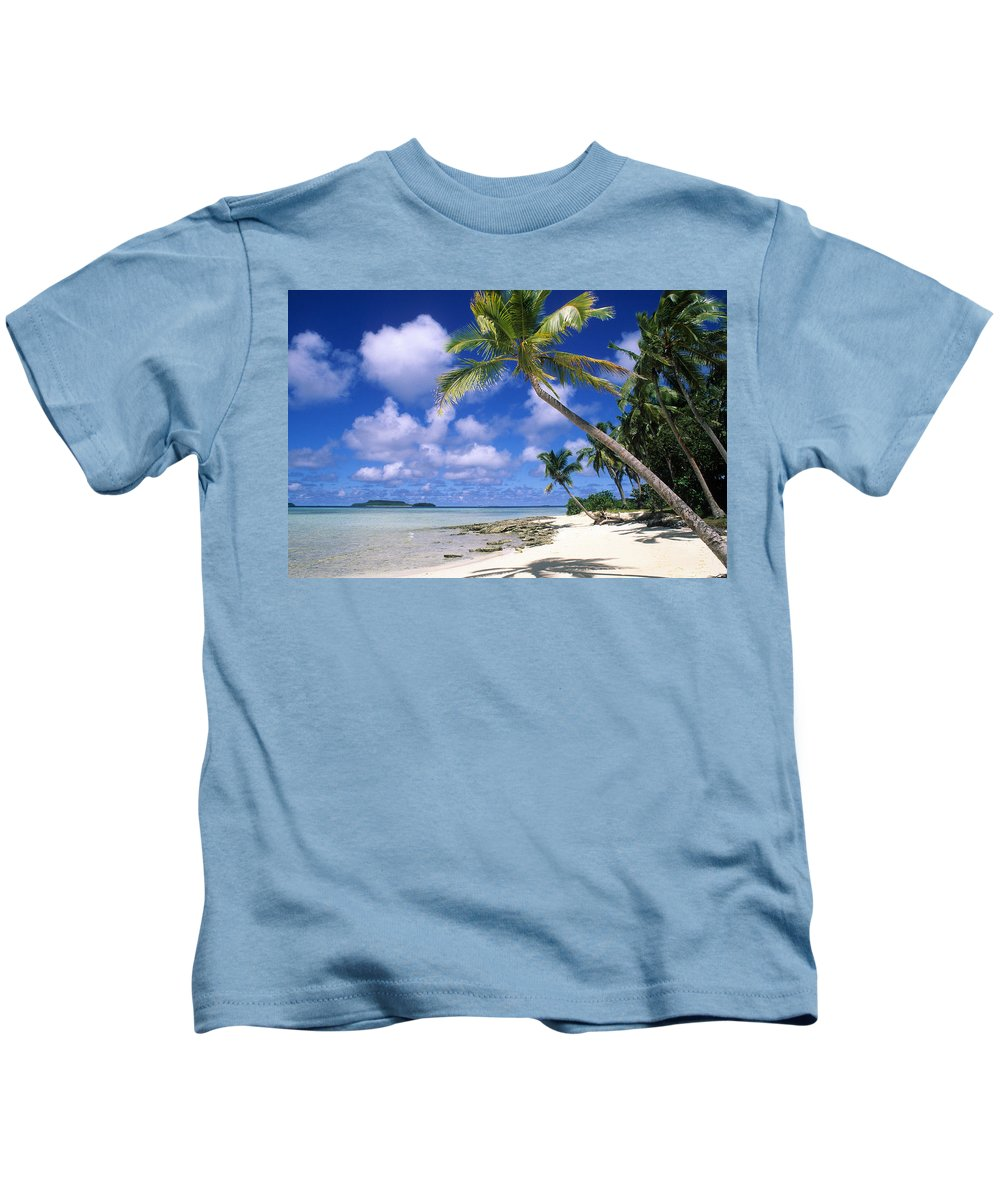 Beach Kids T-Shirt featuring the photograph South Pacific by Steve Williams