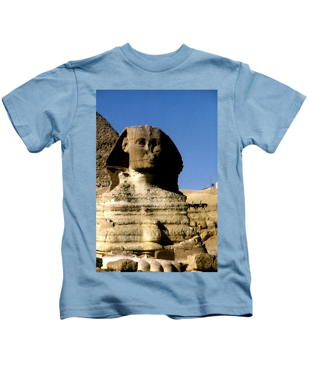 Sphinx Kids T-Shirt featuring the photograph Sphinx by Gary Wonning
