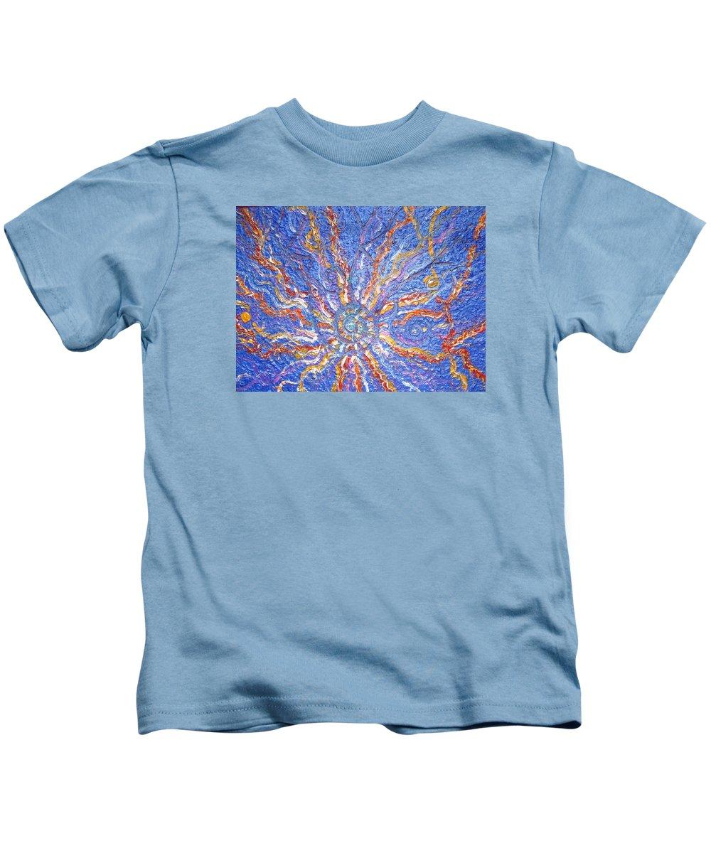 Spiritual Symbol Kids T-Shirt featuring the painting Spirale Money Magnet by Joanna Pilatowicz
