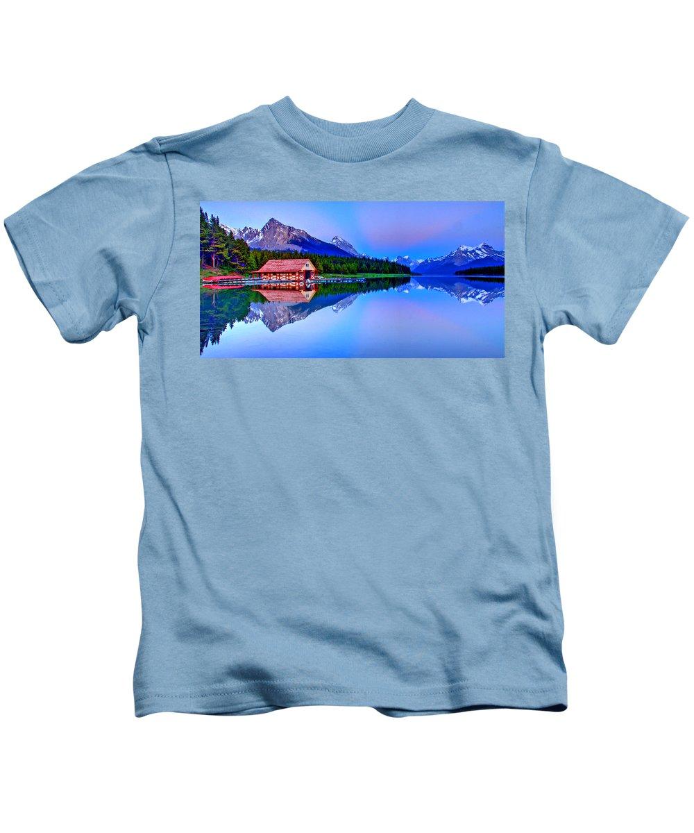 Lake Kids T-Shirt featuring the photograph Spiritual Lake by Scott Mahon