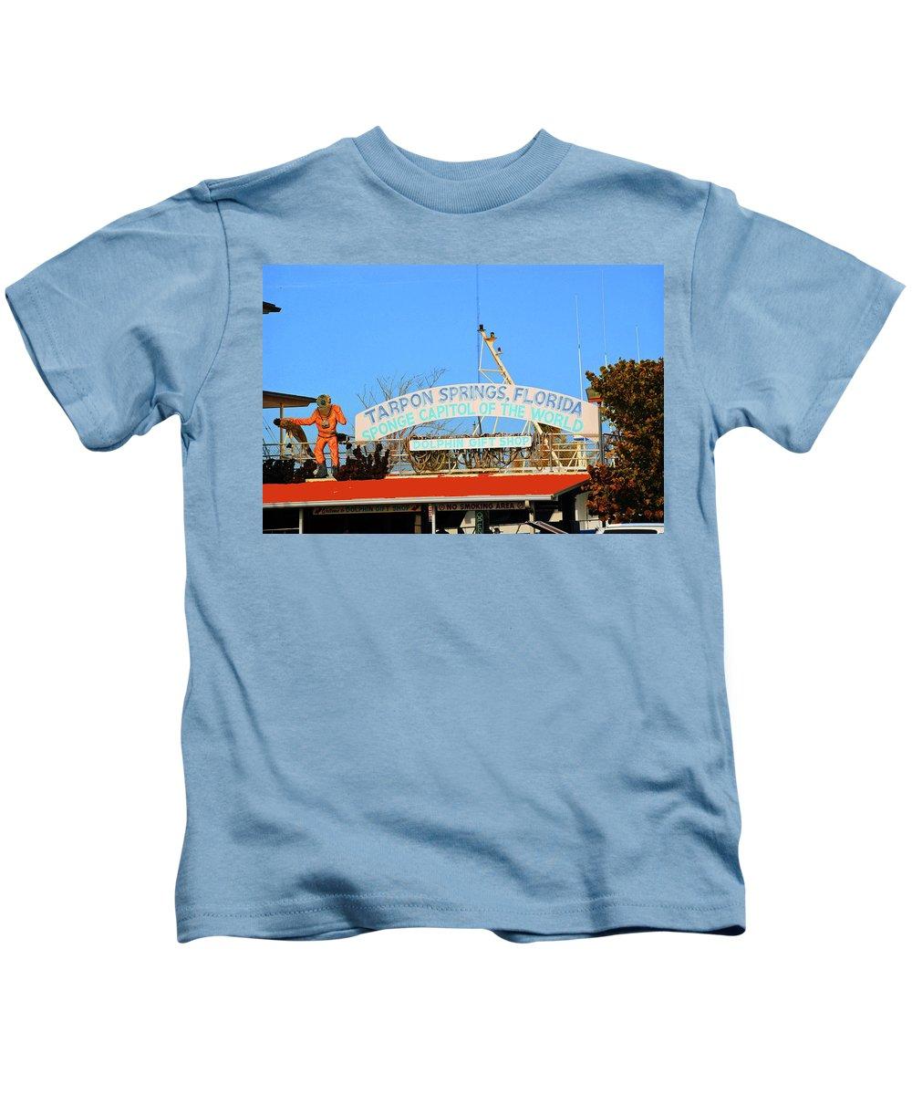 Greek Kids T-Shirt featuring the photograph Sponge Capitol by Jost Houk
