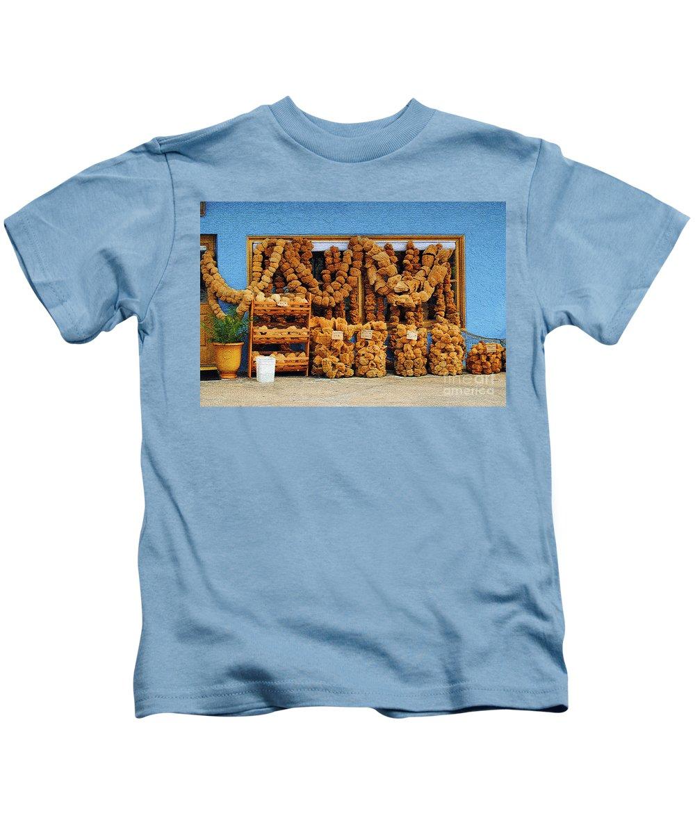 Sponges Kids T-Shirt featuring the photograph Sponges For Sale by Jost Houk