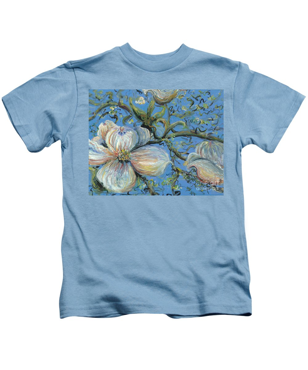 Flower Kids T-Shirt featuring the painting Spring Blossoms by Nadine Rippelmeyer