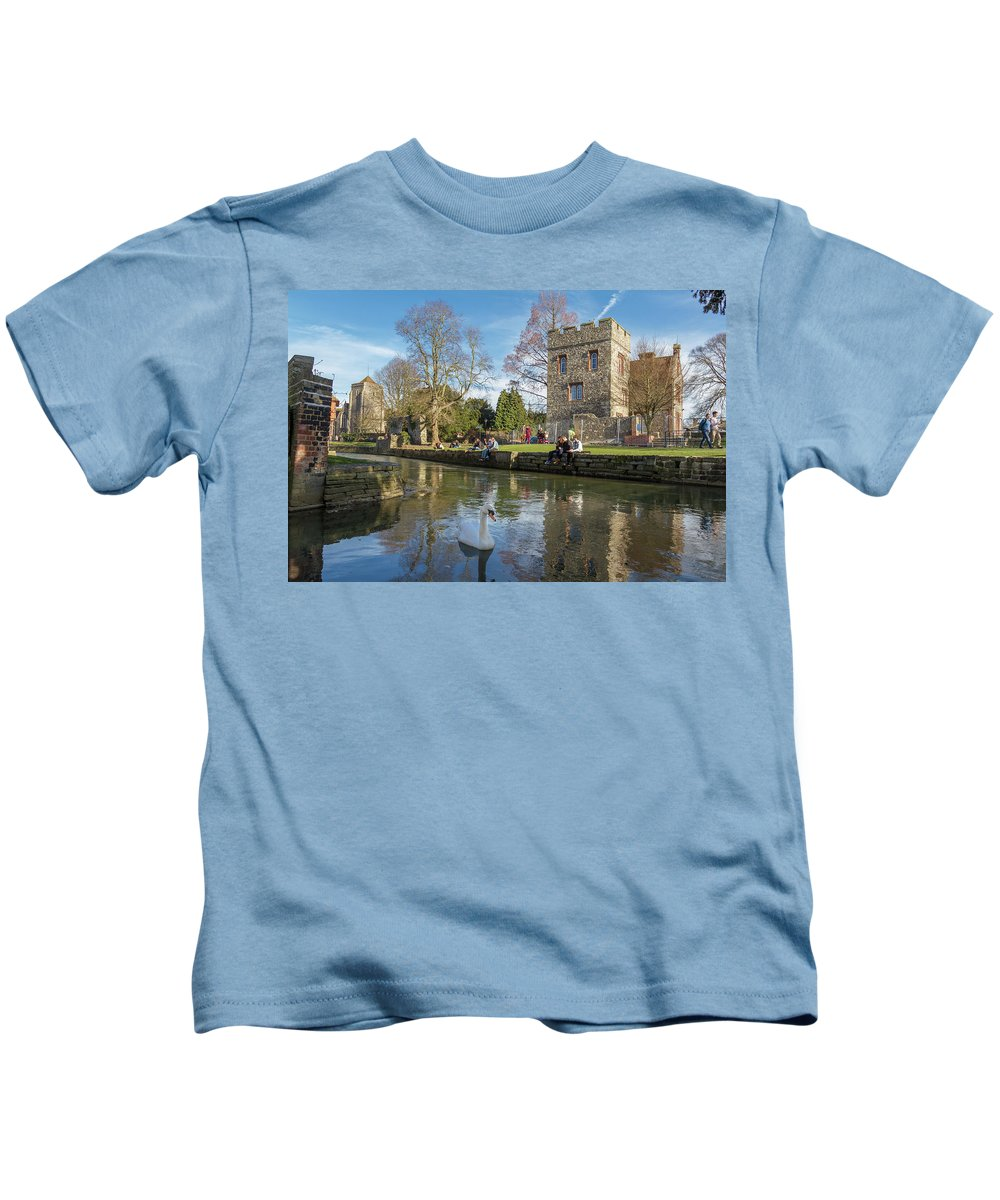 Bird Kids T-Shirt featuring the photograph Spring In Canterbury by Iordanis Pallikaras