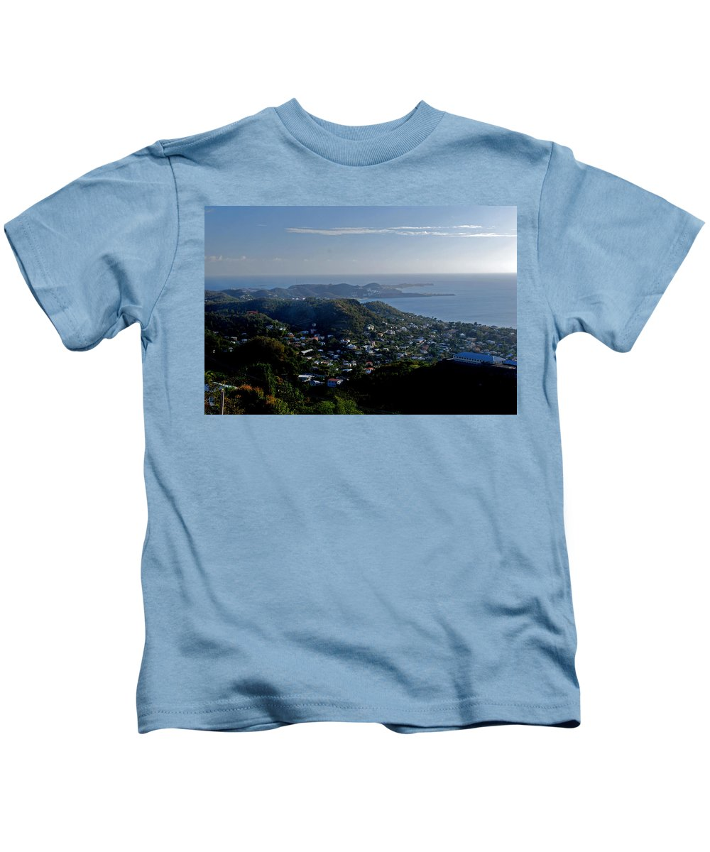 Sunset Kids T-Shirt featuring the photograph St. George's Grenada by Gary Wonning