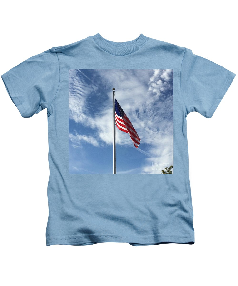 Us Flag Kids T-Shirt featuring the photograph Stars And Stripes by Michael Gailey