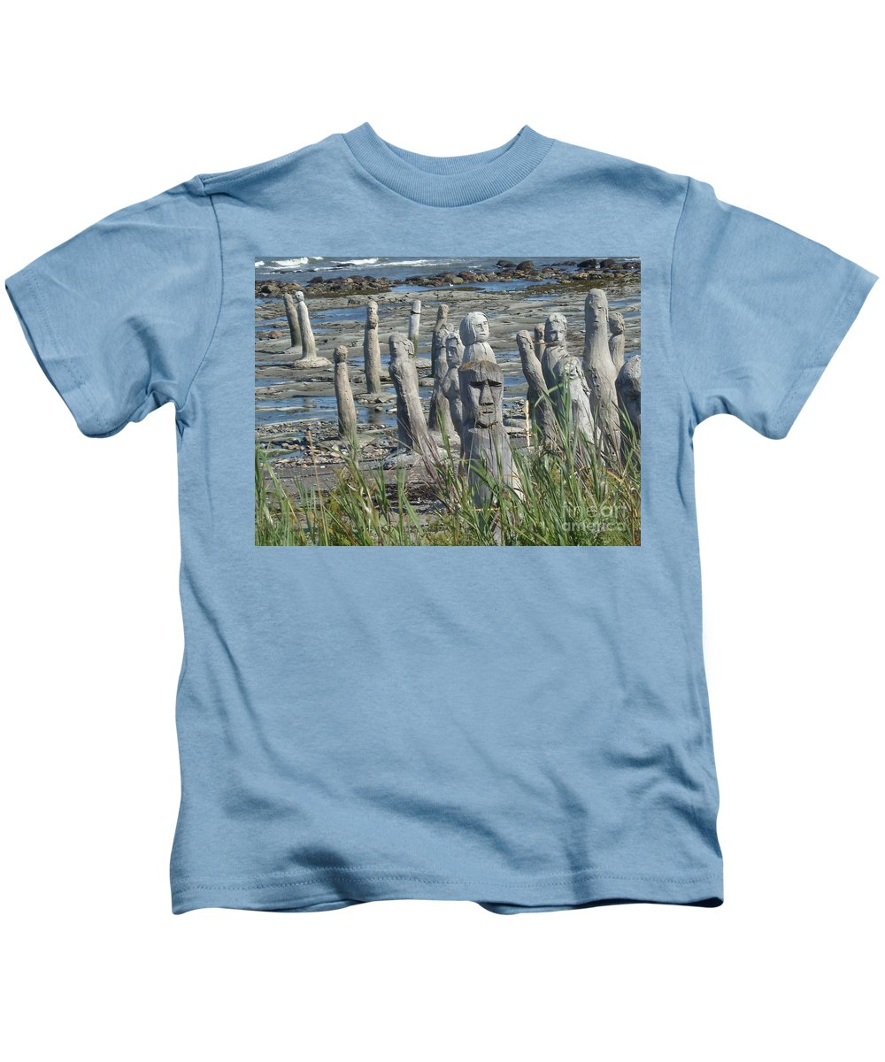 Landscape Kids T-Shirt featuring the photograph Ste Flavie by Line Gagne