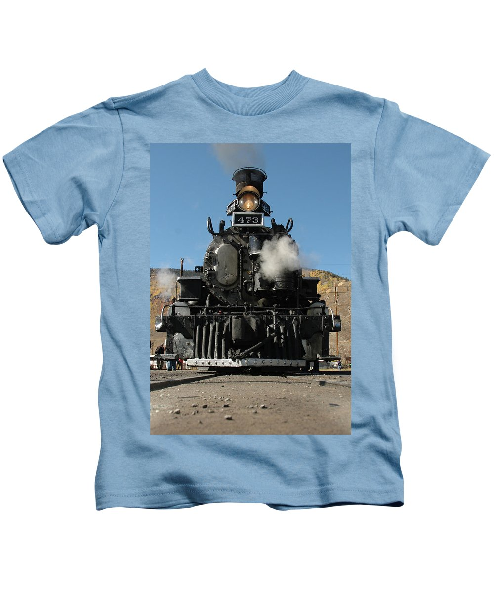 Steam Kids T-Shirt featuring the photograph Steam Power by Jerry McElroy