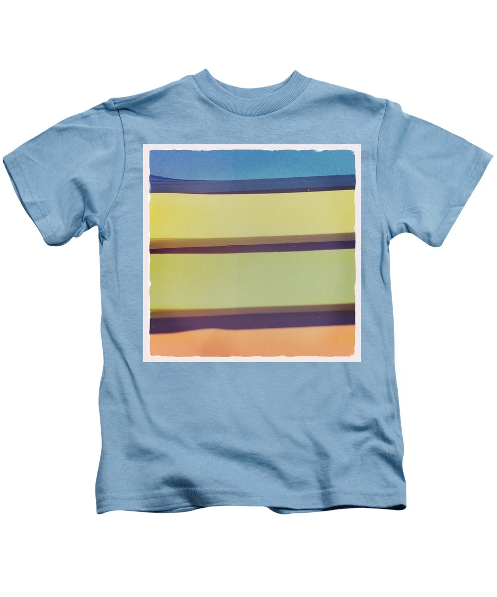 Abstract Kids T-Shirt featuring the photograph Sticky Stripes by Judith Kitzes
