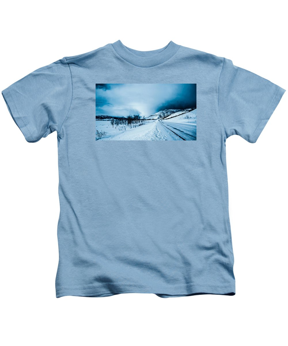 Mountain Kids T-Shirt featuring the photograph Storm On The Mountain by Jonathan Horan