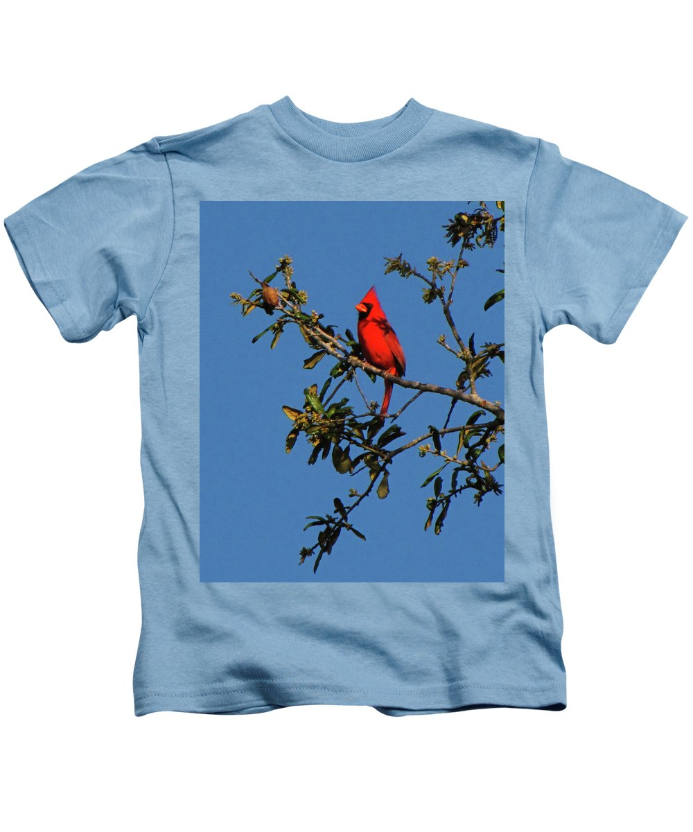 Nature Kids T-Shirt featuring the photograph Striking by Peg Urban