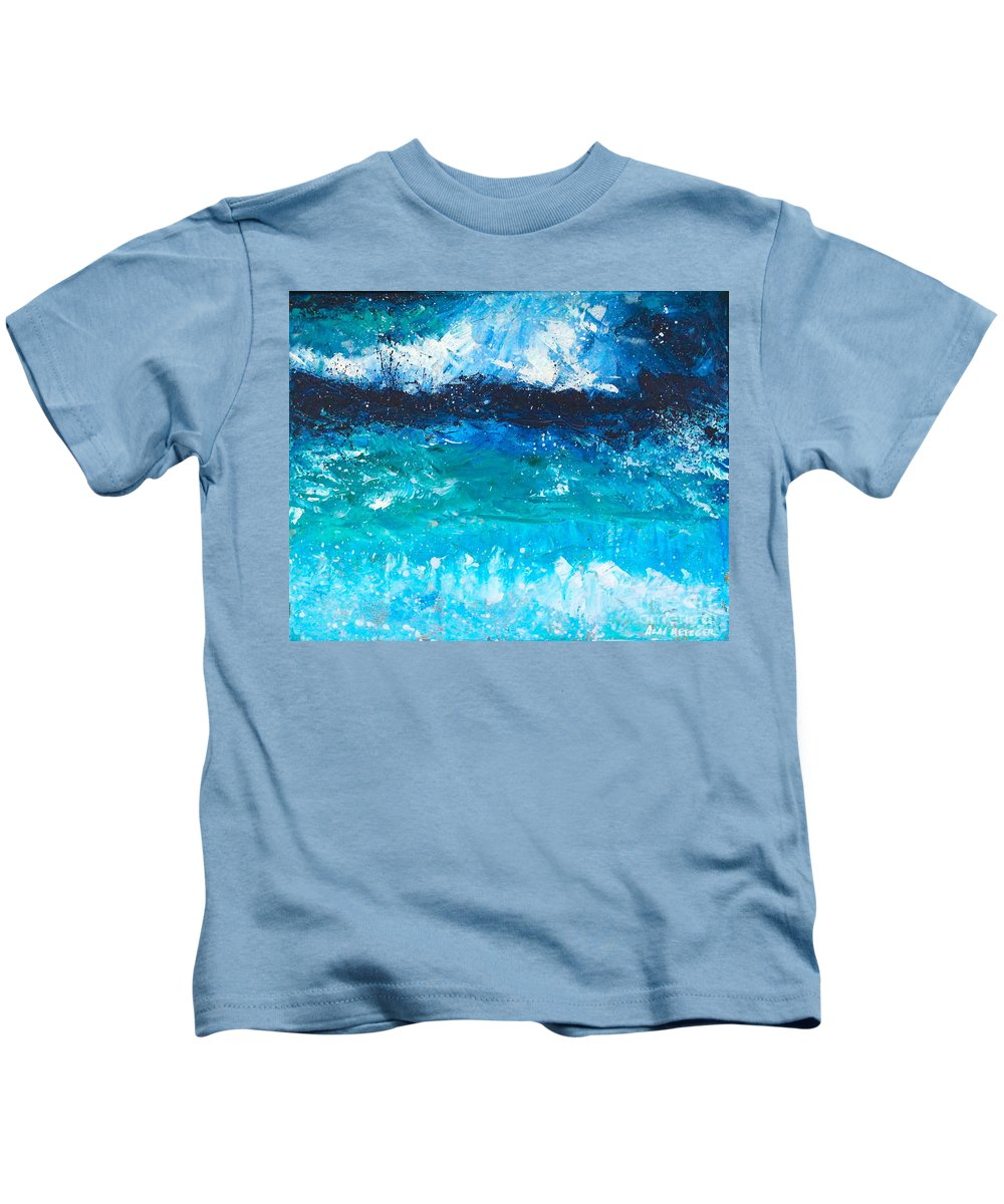 Ocean Kids T-Shirt featuring the painting Strong Current by Alan Metzger