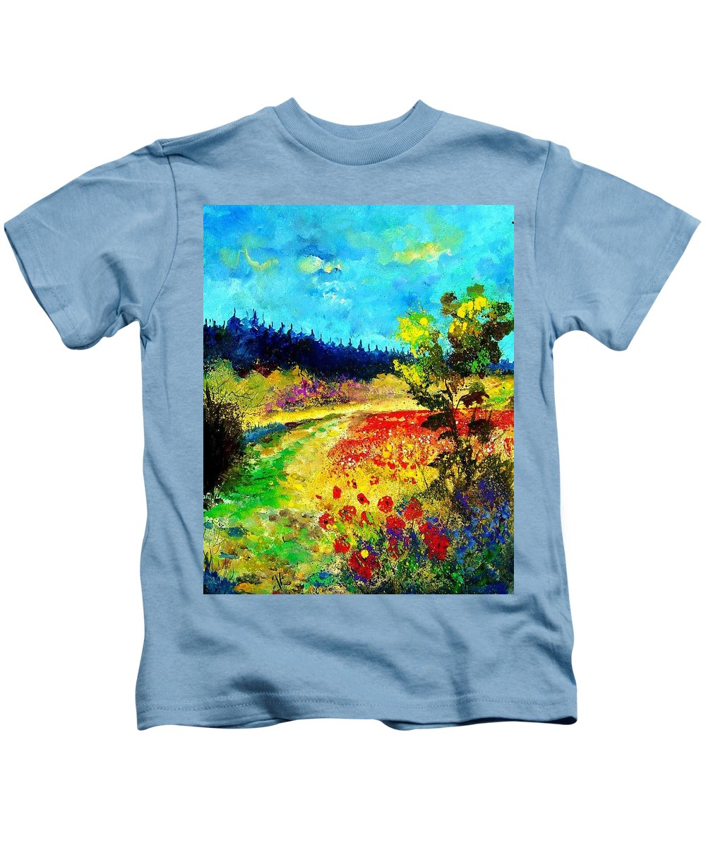Flowers Kids T-Shirt featuring the painting Summer by Pol Ledent