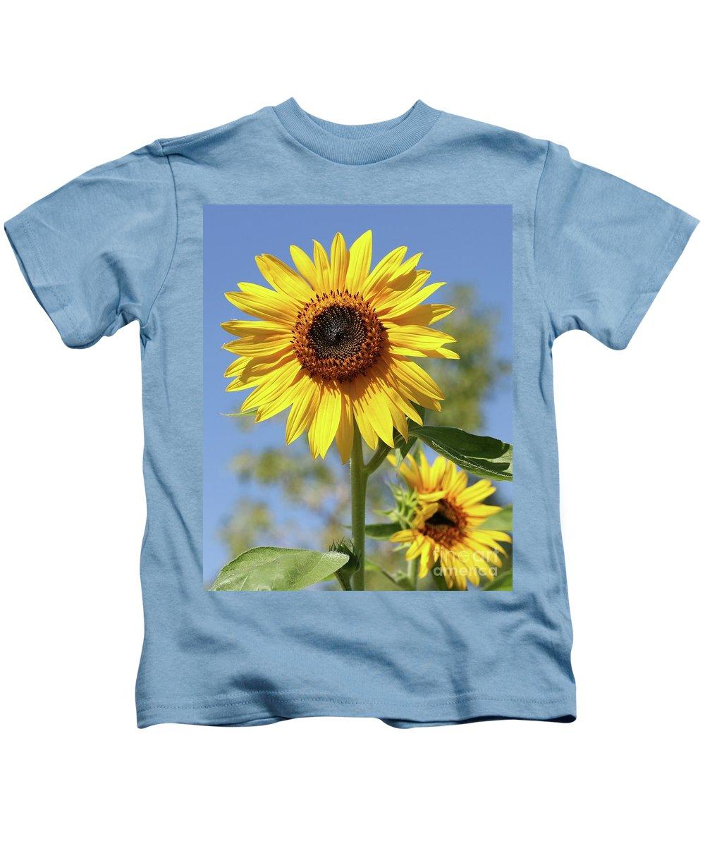 Sunflower Kids T-Shirt featuring the photograph Sunflowers by Sabrina L Ryan