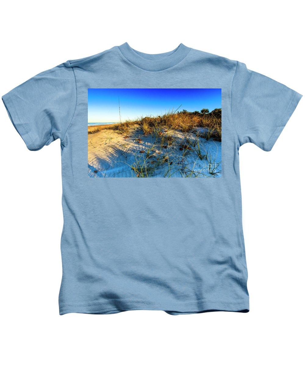 Manasota Beach Kids T-Shirt featuring the photograph Dawn At Manasota Beach by Ben Graham