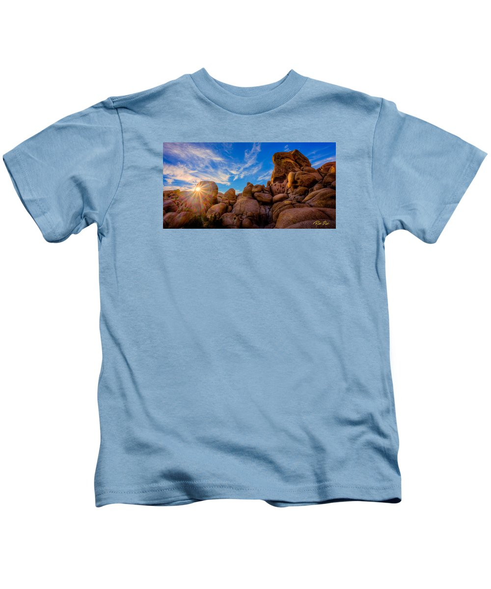 California Kids T-Shirt featuring the photograph Sunrise At Skull Rock by Rikk Flohr