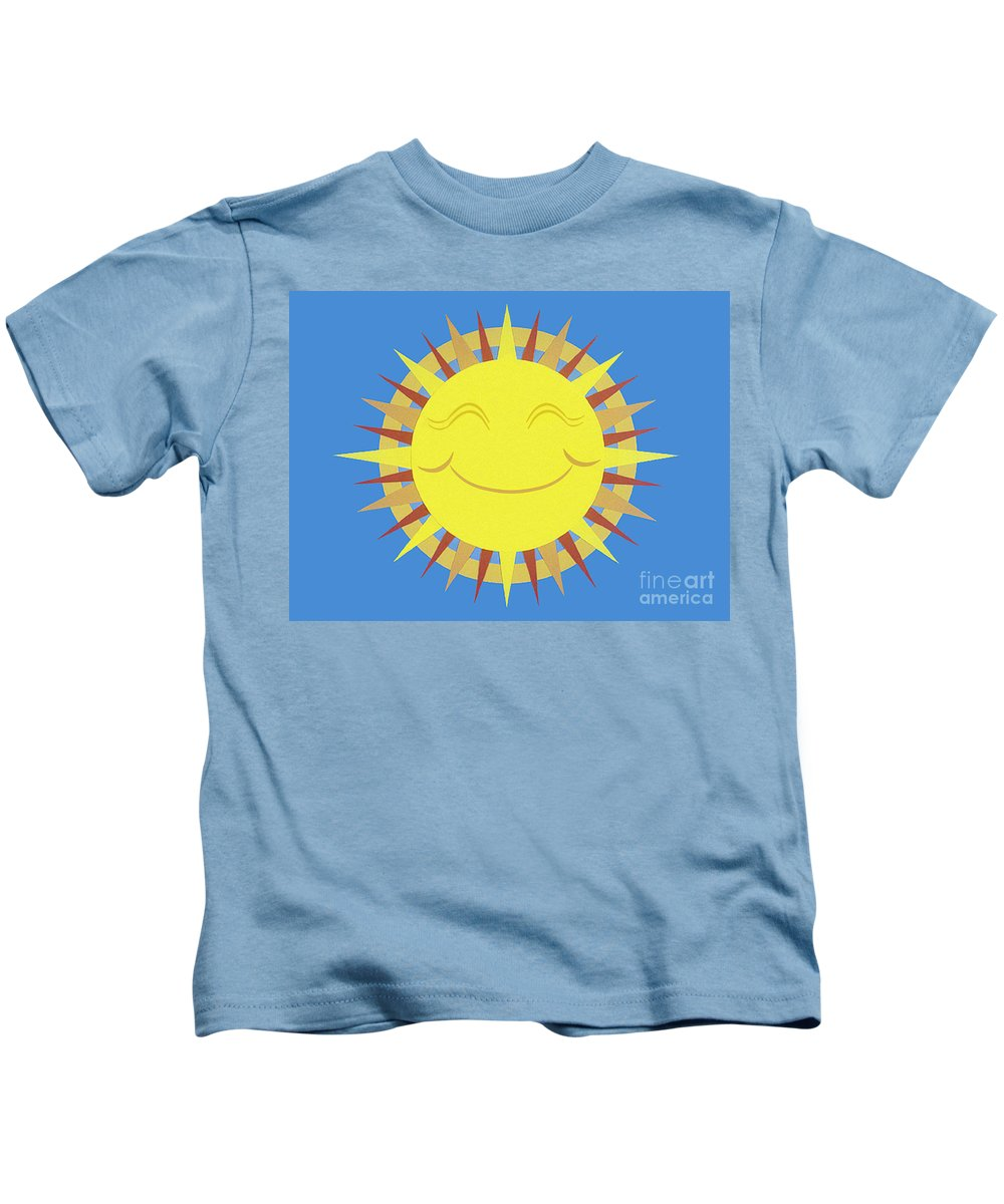 Nature Kids T-Shirt featuring the drawing Sunshine by Lucyna A M Green