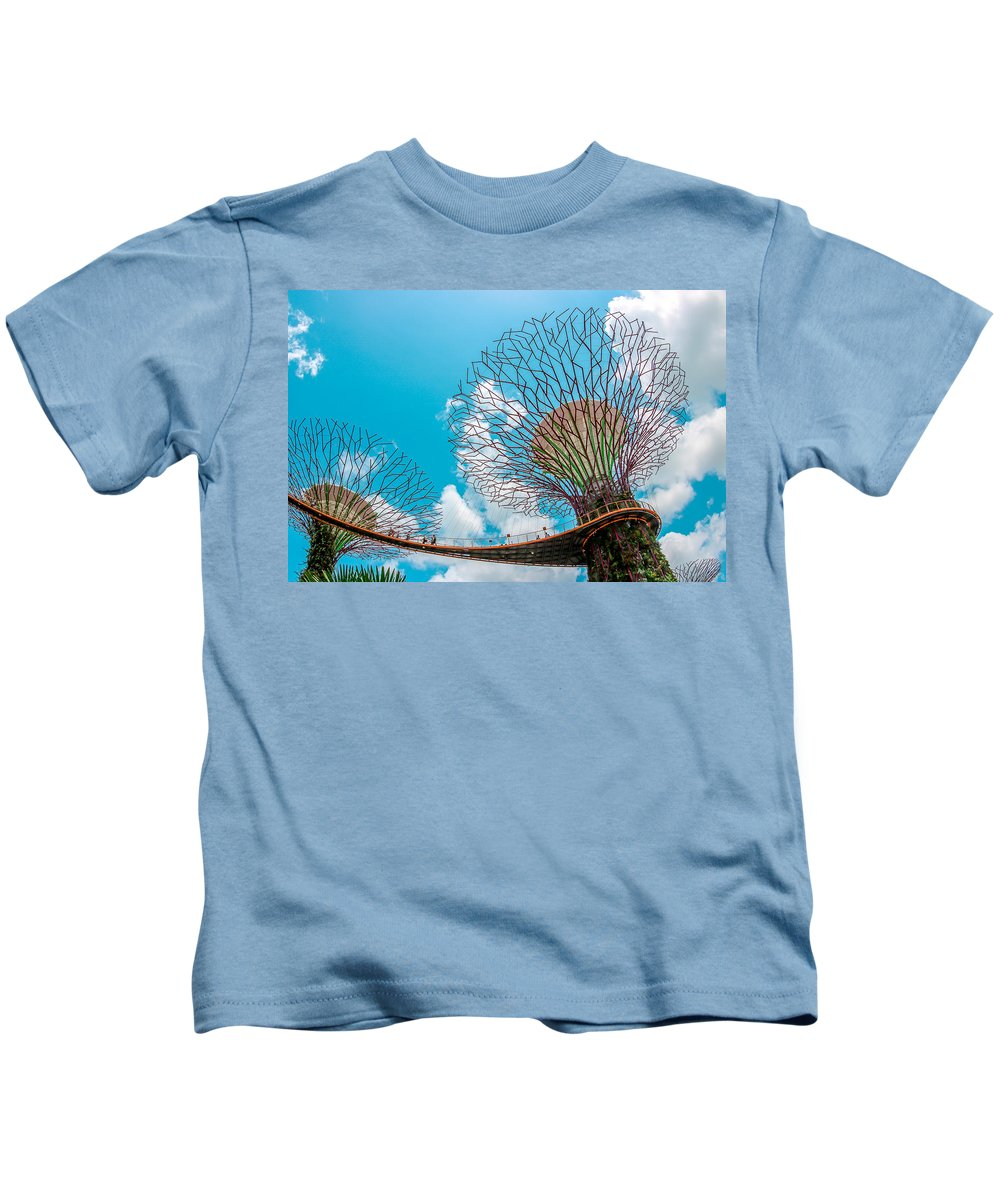 Gardens By The Bay Kids T-Shirt featuring the photograph Super Tree Grove- Gardens By The Bay by Valley Arora