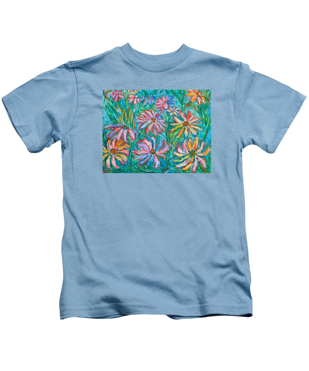 Impressionist Kids T-Shirt featuring the painting Swirling Color by Kendall Kessler