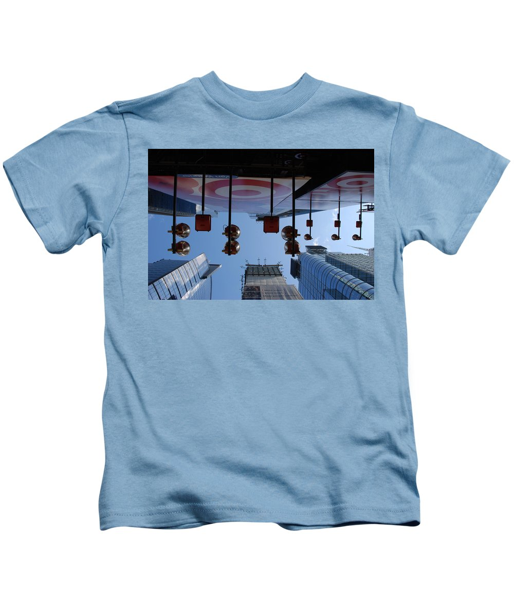 Architecture Kids T-Shirt featuring the photograph Target Lights by Rob Hans