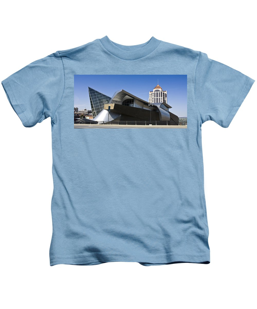 Roanoke Kids T-Shirt featuring the photograph Taubman And Tower Roanoke Virginia by Teresa Mucha