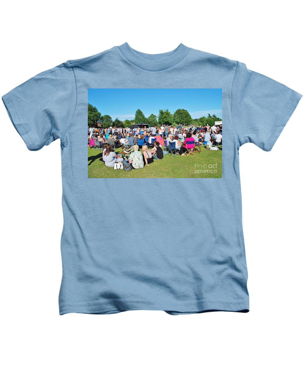 Tentertainment Kids T-Shirt featuring the photograph Tentertainment Music Festival 2015 by David Fowler