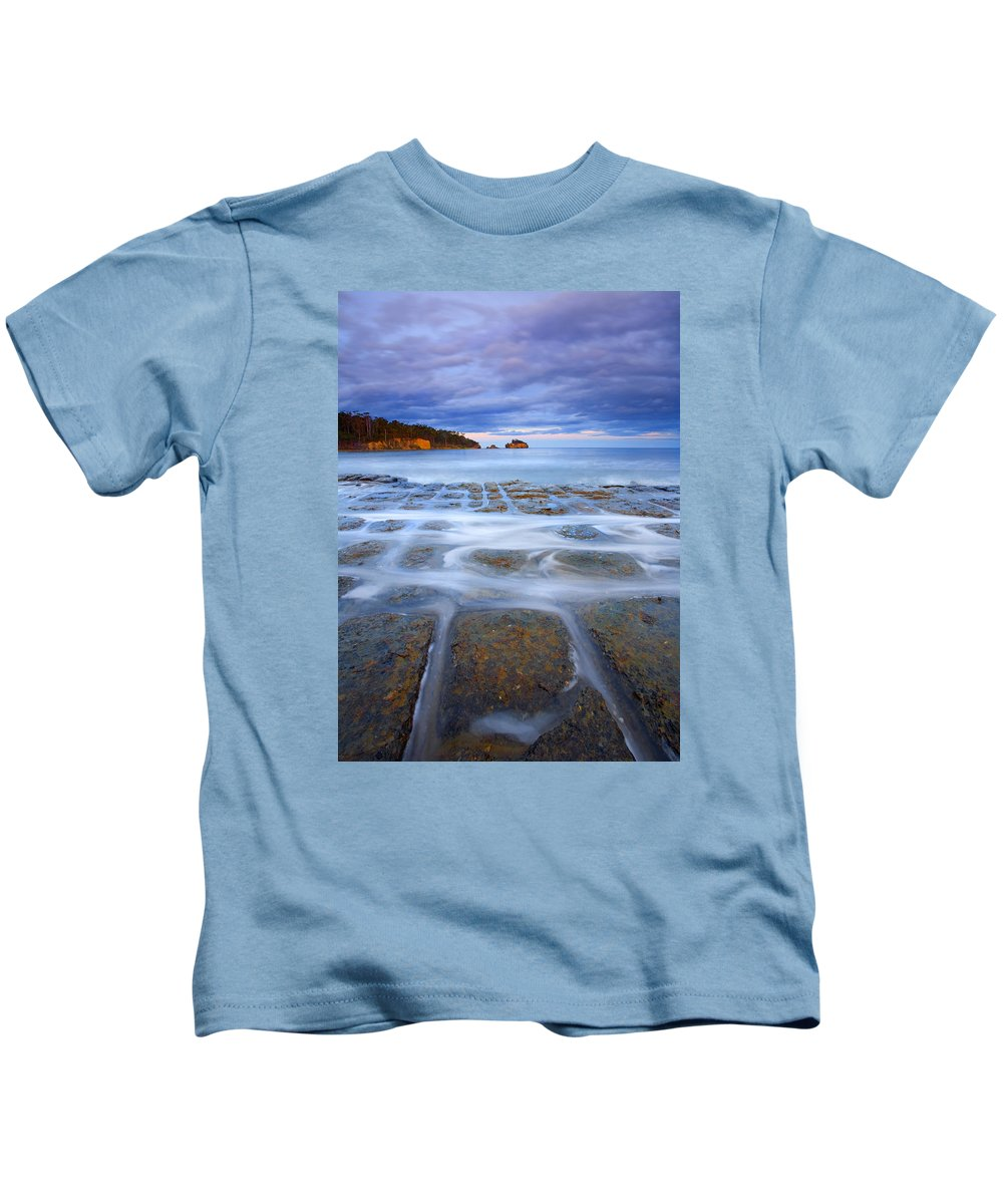 Sunset Kids T-Shirt featuring the photograph Tesselated Sunset by Mike Dawson