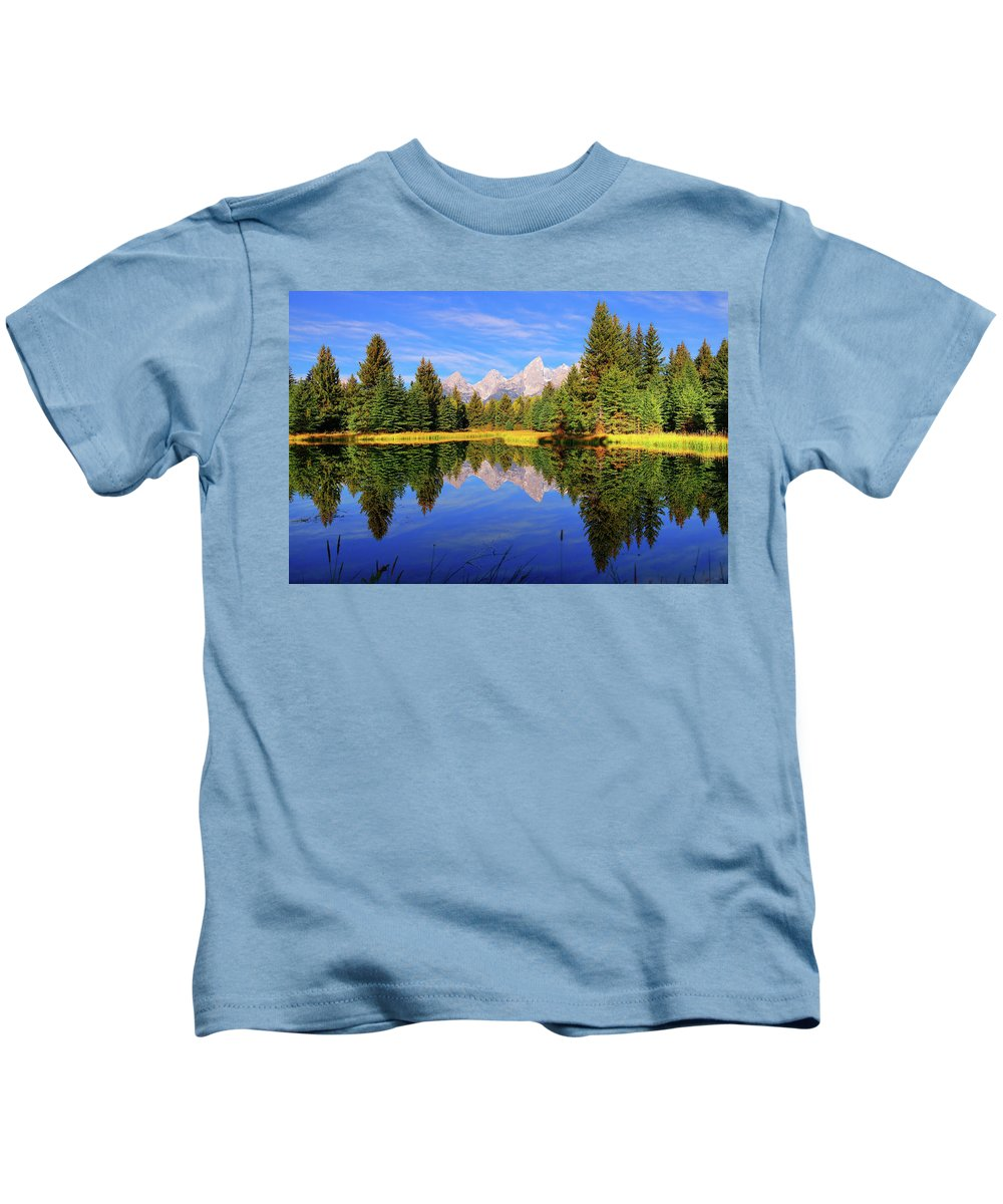 Tetons Kids T-Shirt featuring the photograph Teton Tranquility by Greg Norrell