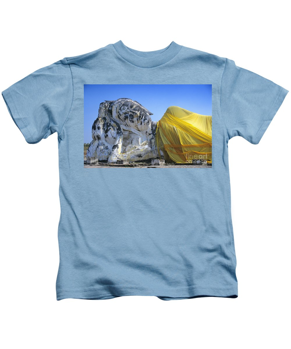 Ancient Kids T-Shirt featuring the photograph Thailand, Ayathaya by Gloria & Richard Maschmeyer - Printscapes