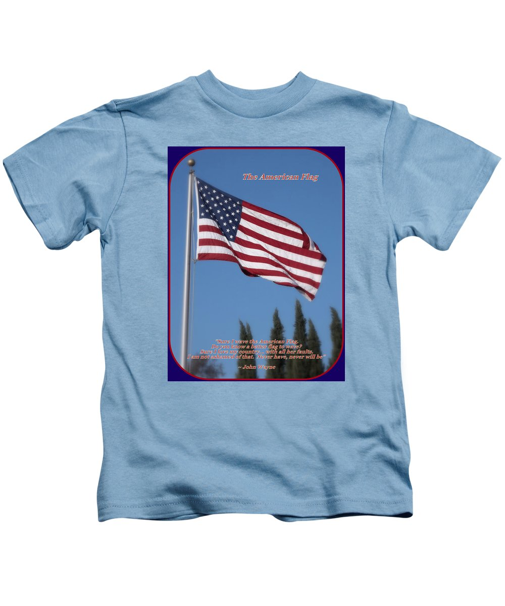 The American Flag Kids T-Shirt featuring the photograph The American Flag by Glenn McCarthy Art and Photography