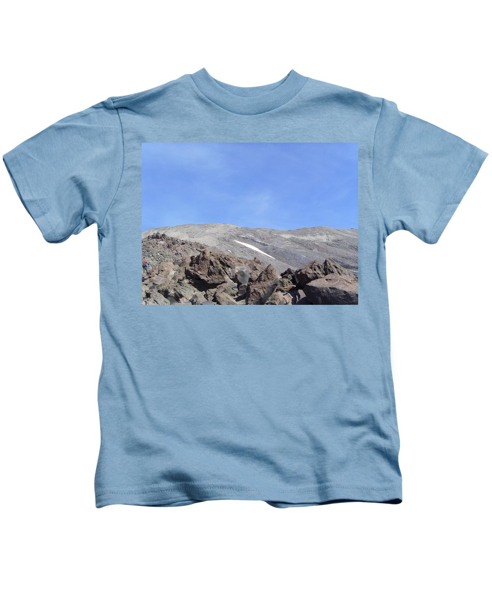 Mt St Helens.mountains Kids T-Shirt featuring the photograph The Base Of Mt St Helens by Jeff Swan