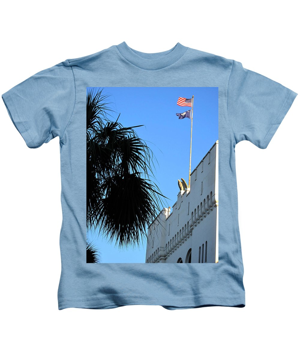 Photography Kids T-Shirt featuring the photograph The Citadel in Charleston by Susanne Van Hulst