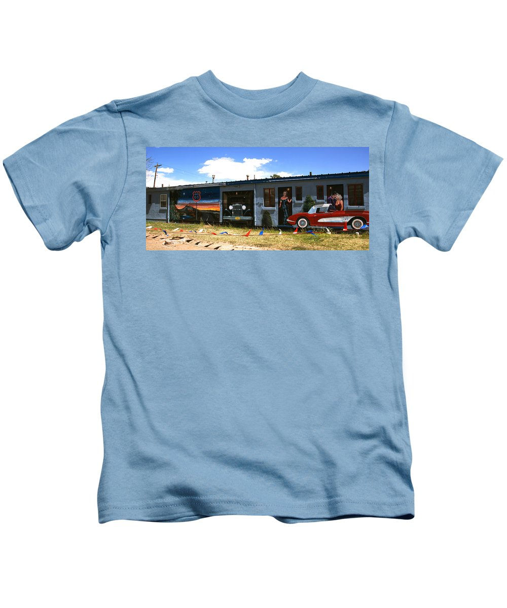Route 66 Kids T-Shirt featuring the photograph The Famous Murals On Route 66 by Susanne Van Hulst