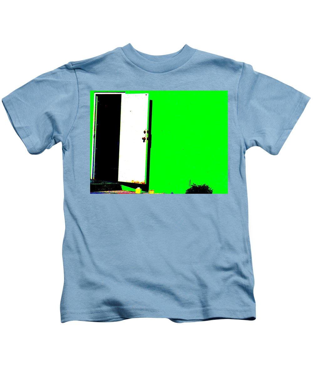 Still Life Kids T-Shirt featuring the photograph The Green Door by Ed Smith