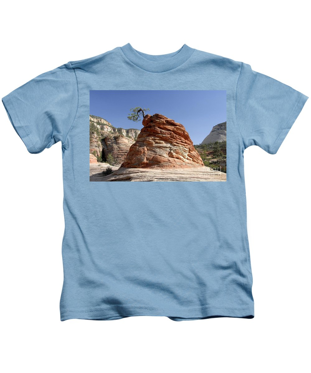 Zion National Park Utah Kids T-Shirt featuring the photograph The Land Of Zion by David Lee Thompson
