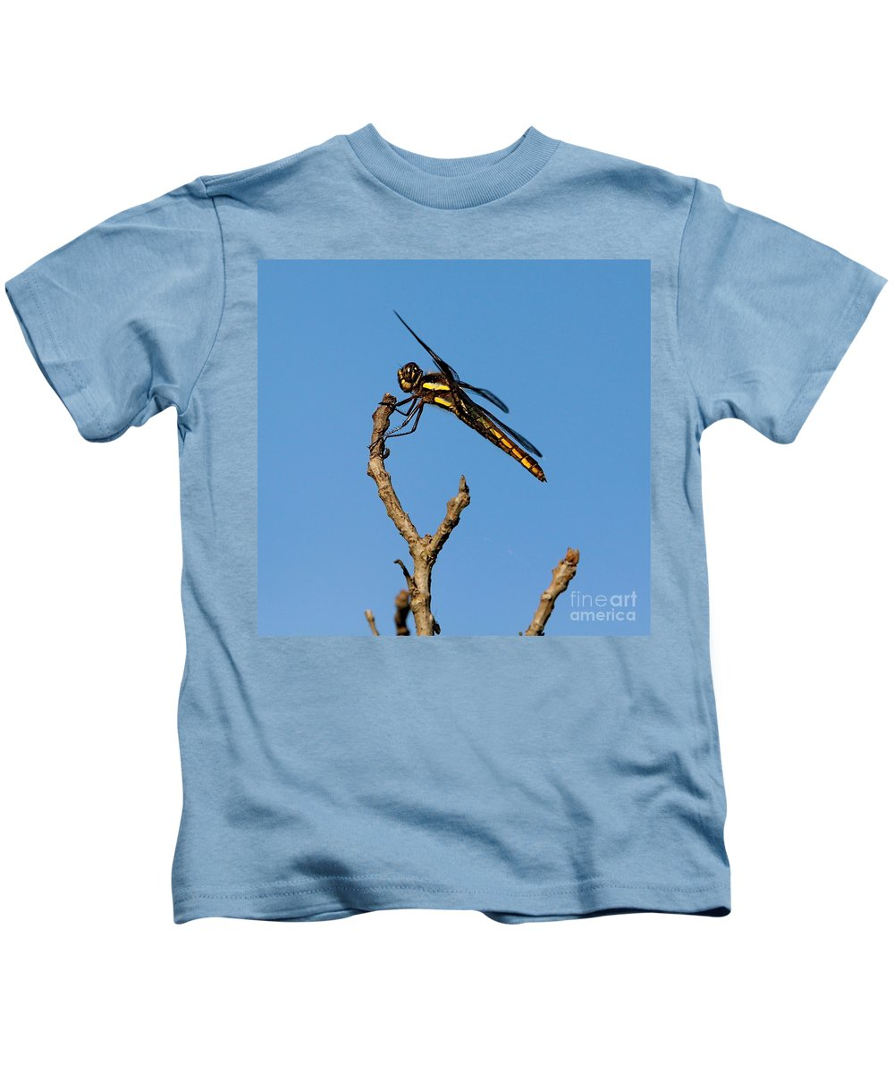 Insect Kids T-Shirt featuring the photograph The Landing Pad by Robert Pearson