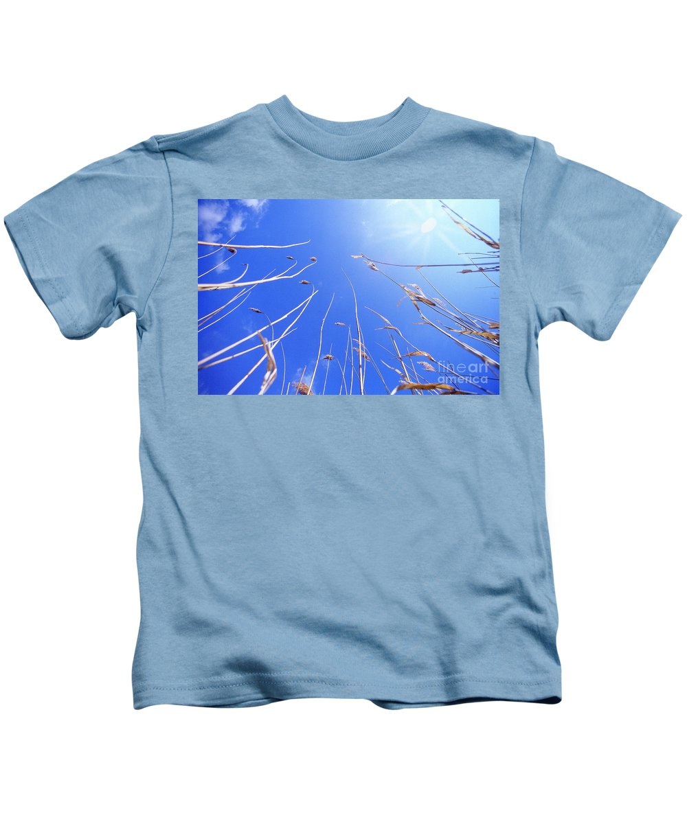 Sky Kids T-Shirt featuring the photograph The Sky's The Limit by Heiko Koehrer-Wagner