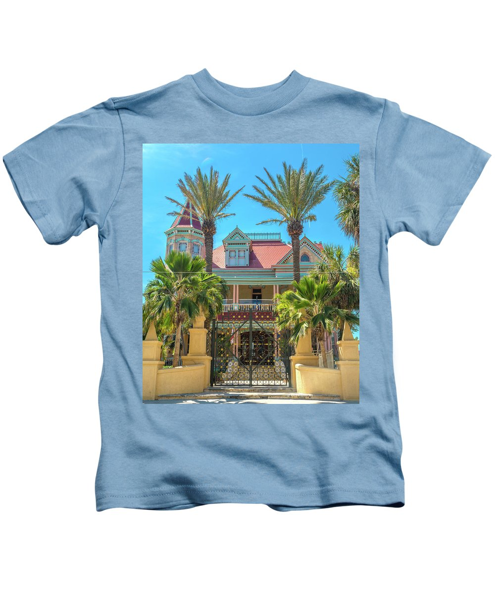 Southernmost Kids T-Shirt featuring the photograph The Southern Most House Duval Street Florida by Betsy Knapp