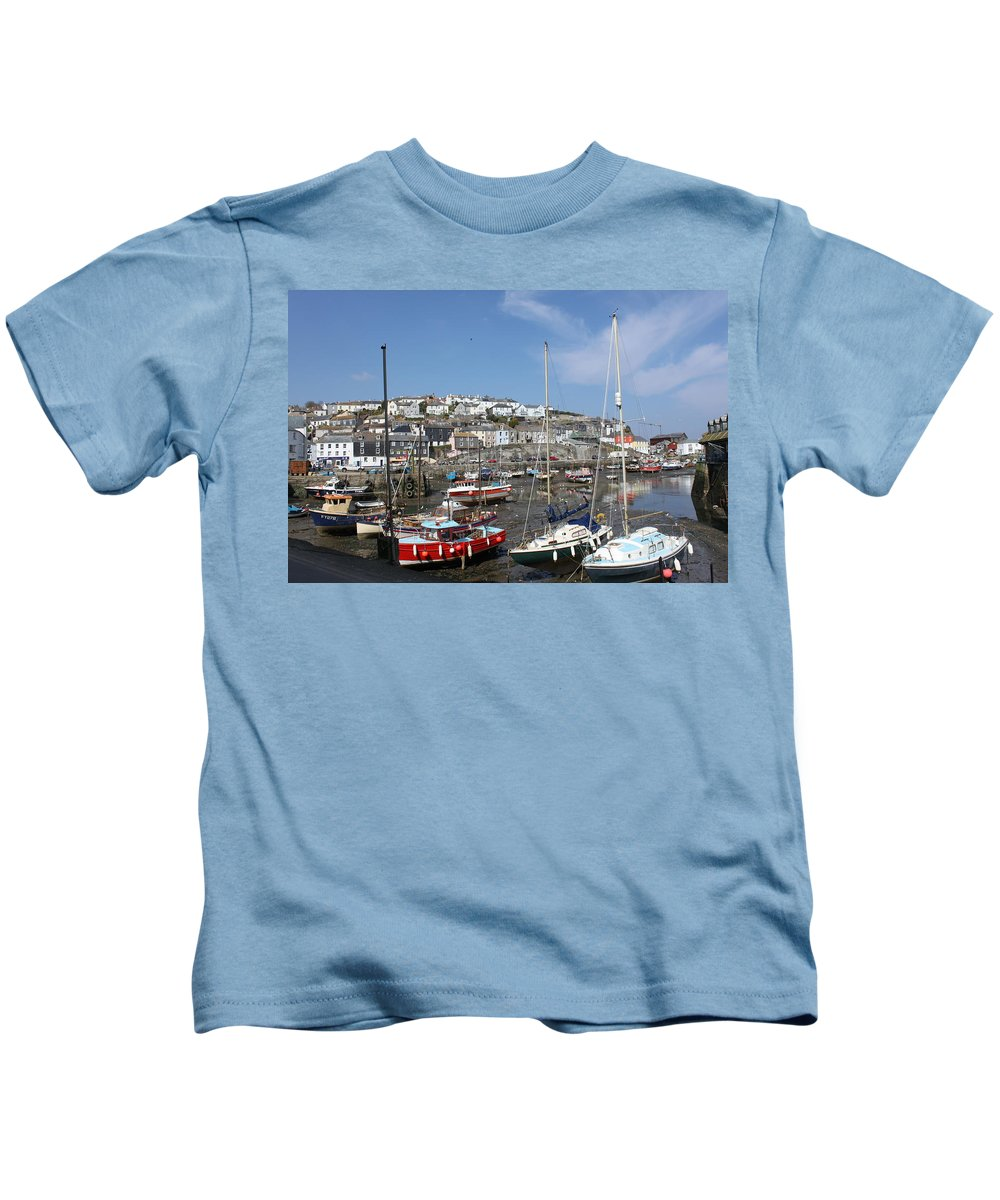 Tide Kids T-Shirt featuring the photograph The Tide Is Out by Lauri Novak