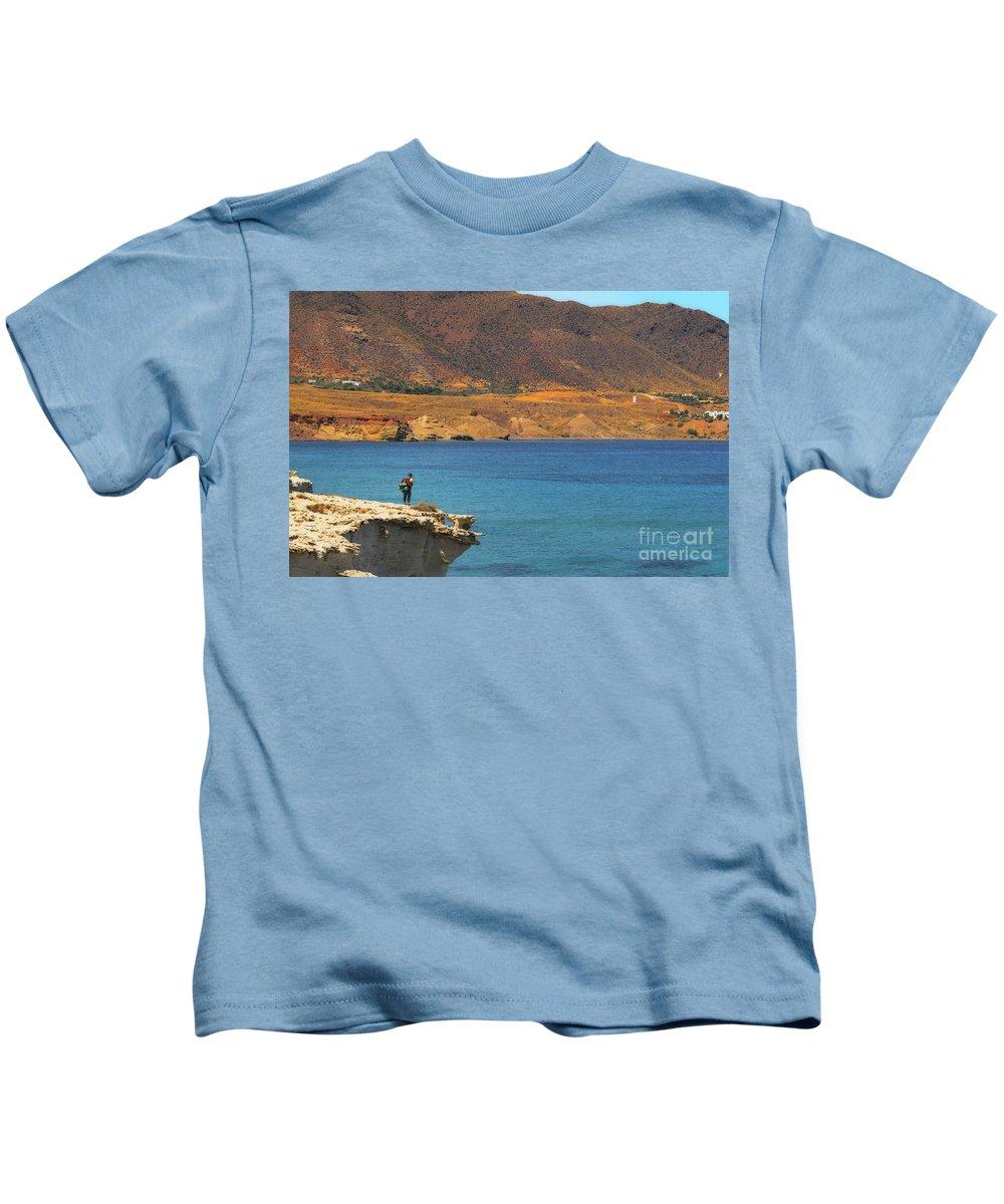 Landscape Kids T-Shirt featuring the photograph The Traveler by Javier CERDAN