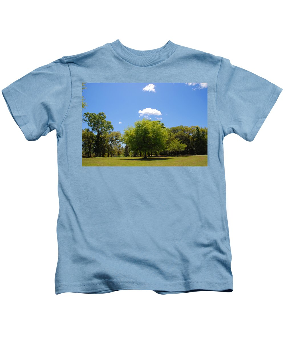 Photography Kids T-Shirt featuring the photograph There Are Some Clouds by Susanne Van Hulst