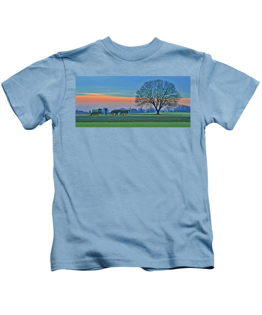 Fields Kids T-Shirt featuring the photograph Through The Fields by Scott Mahon