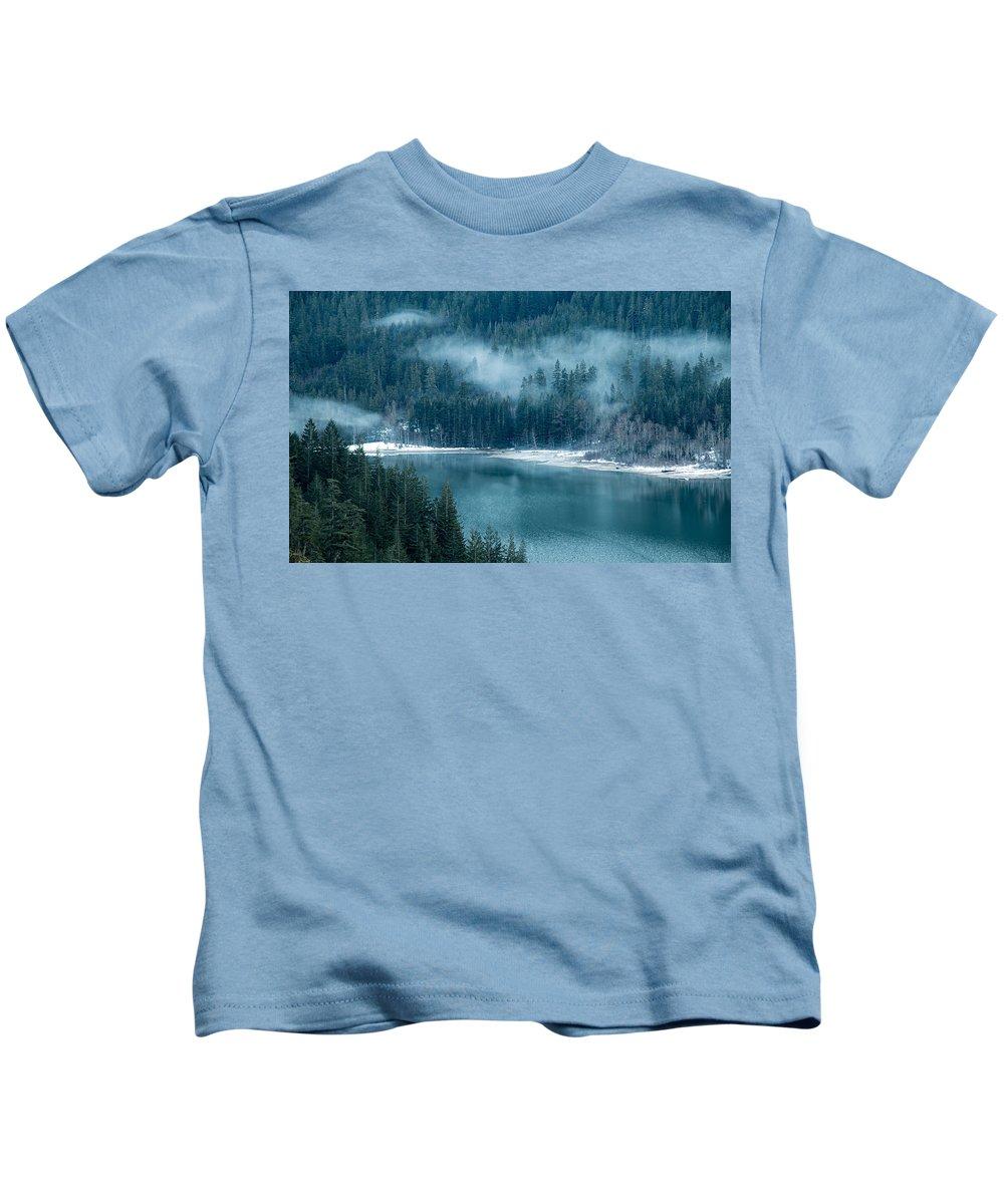 Washington Kids T-Shirt featuring the photograph Thunder Lake by Ryan McGinnis