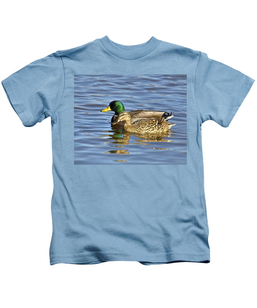 Duck Kids T-Shirt featuring the photograph Togetherness by Robert Pearson