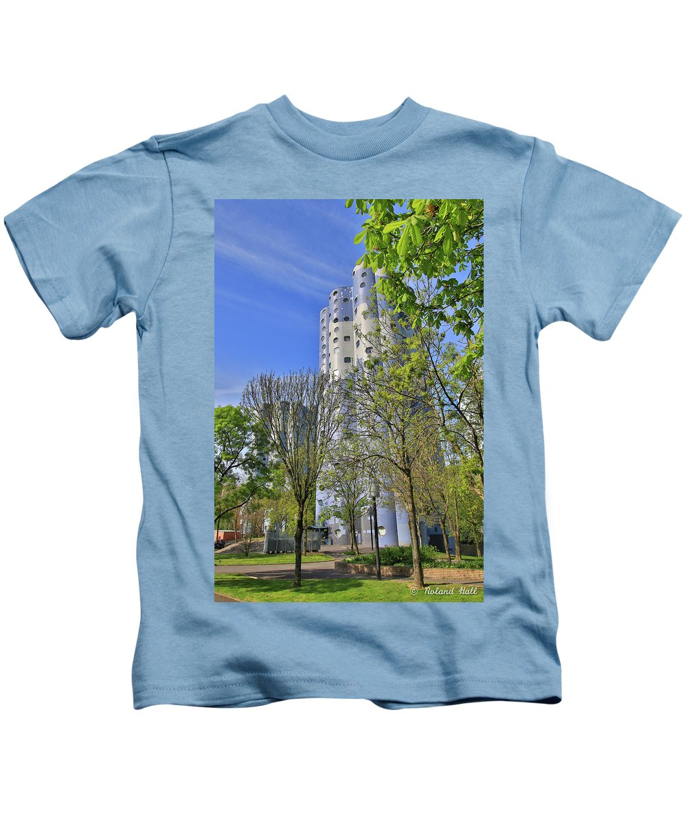 Tours Aillaud Kids T-Shirt featuring the photograph Tours Aillaud Building by Roland Hall