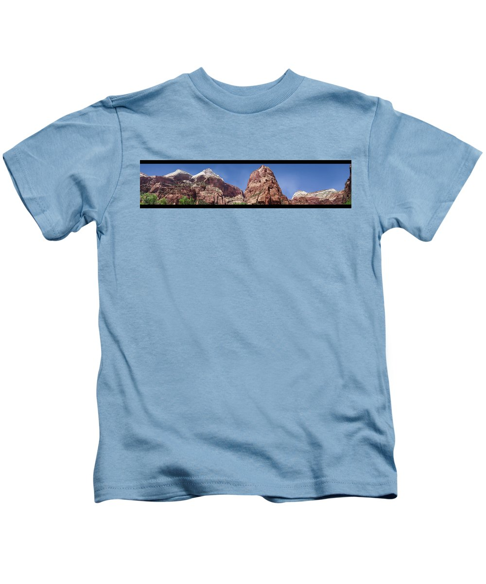 Utah Kids T-Shirt featuring the photograph Towers Of The Virgin by Gravityx9 Designs